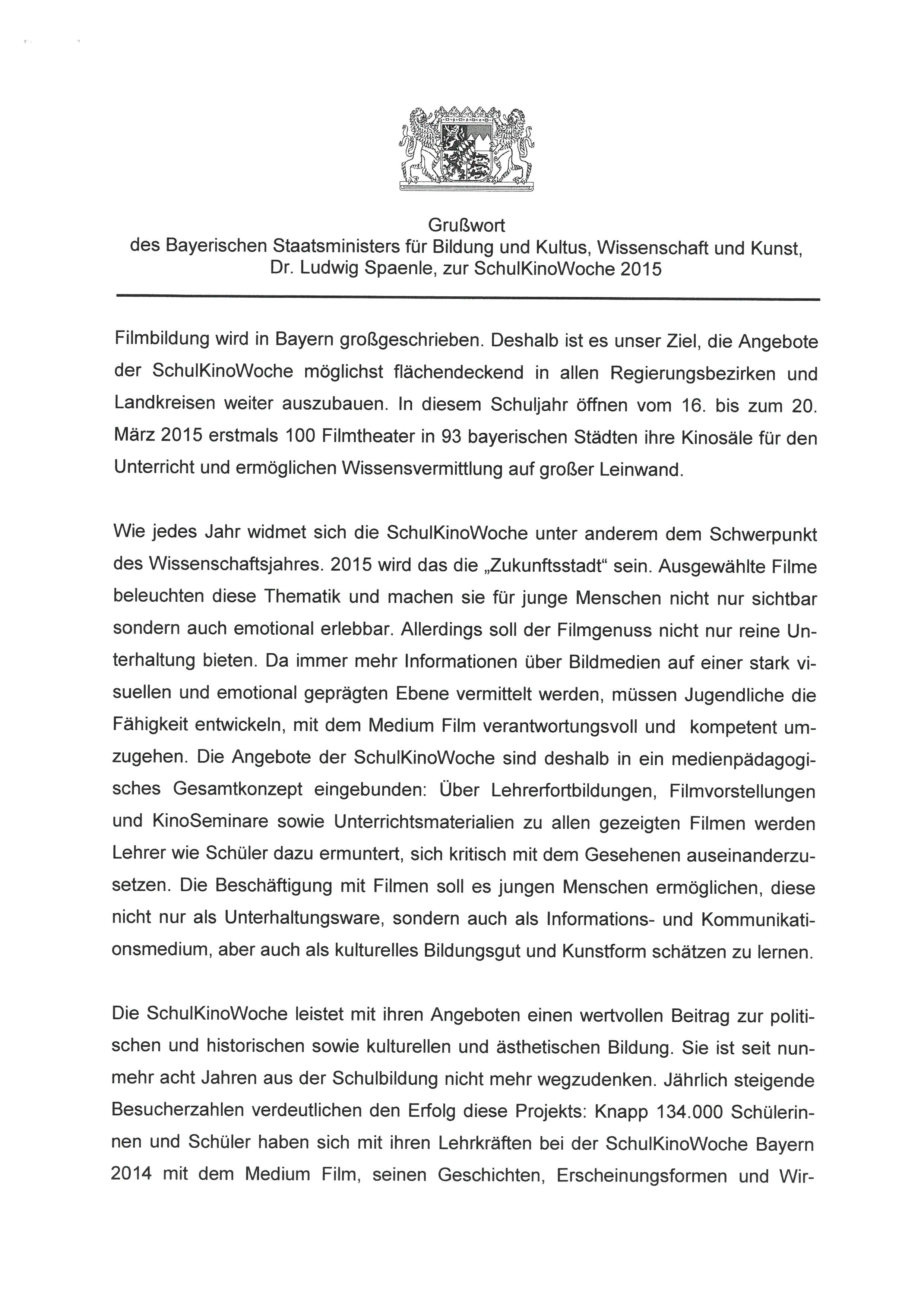 """... Anlage2: """"Grußwort 1"""" zum KMS vom 11.11.14 ..."""